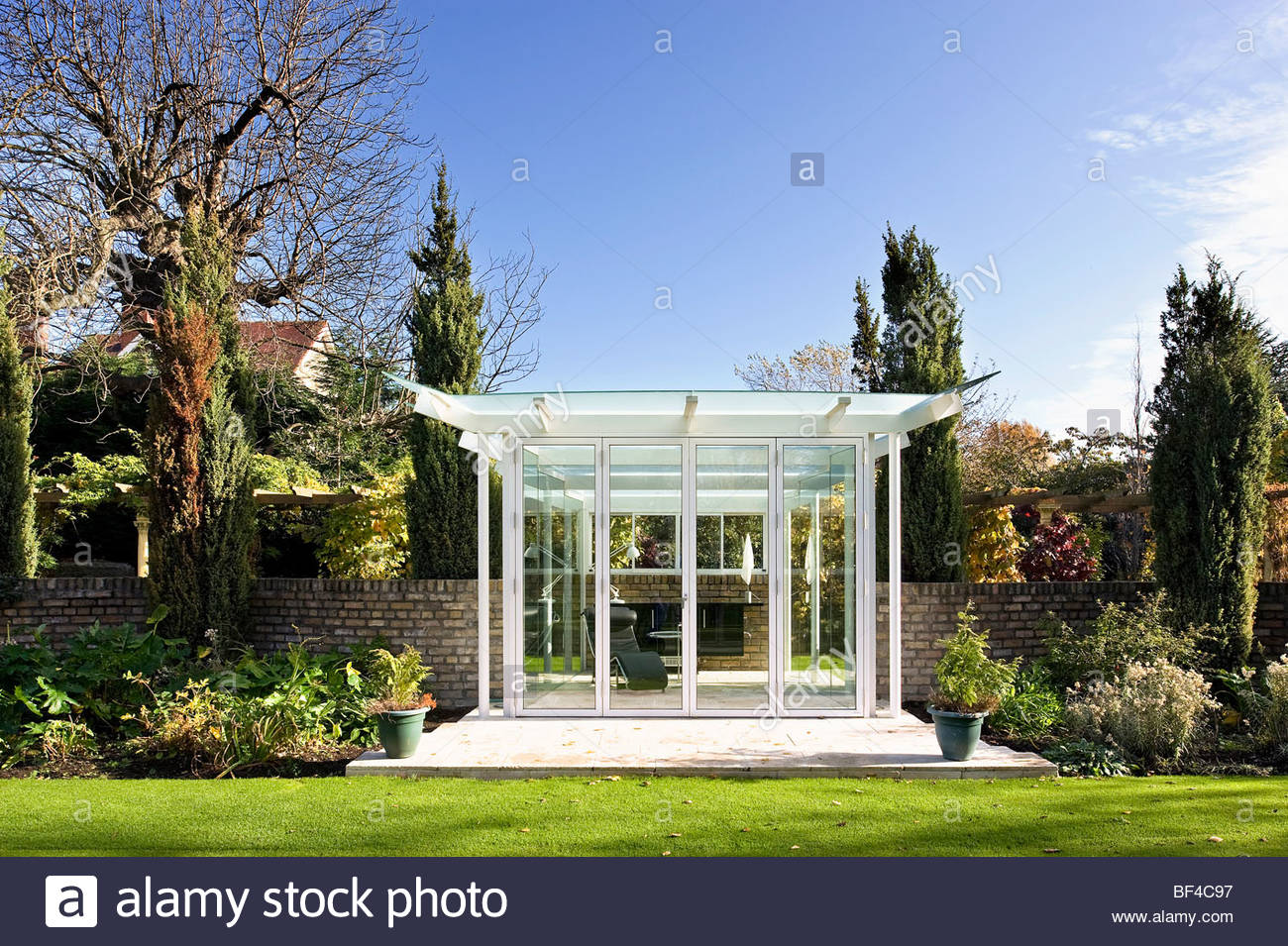 Glass Garden Pavilion Stock Photo Royalty Free Image 26527683