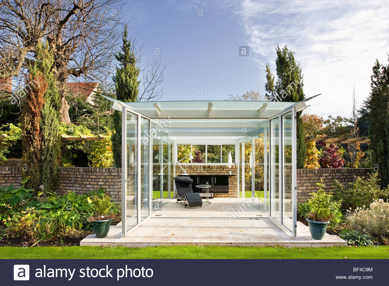 Glass Garden Pavilion Stock Photo Royalty Free Image 26527696