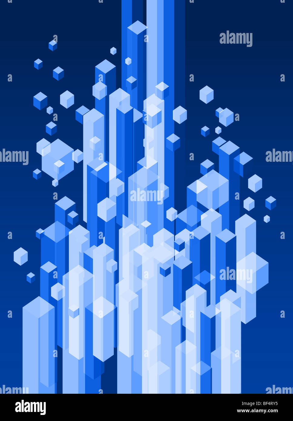 Abstract 3d illustration of blue blocks background | Stock Photo ...