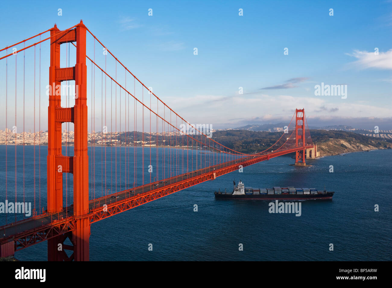 Golden Gate Bridge with San Francisco, California, USA, America ...