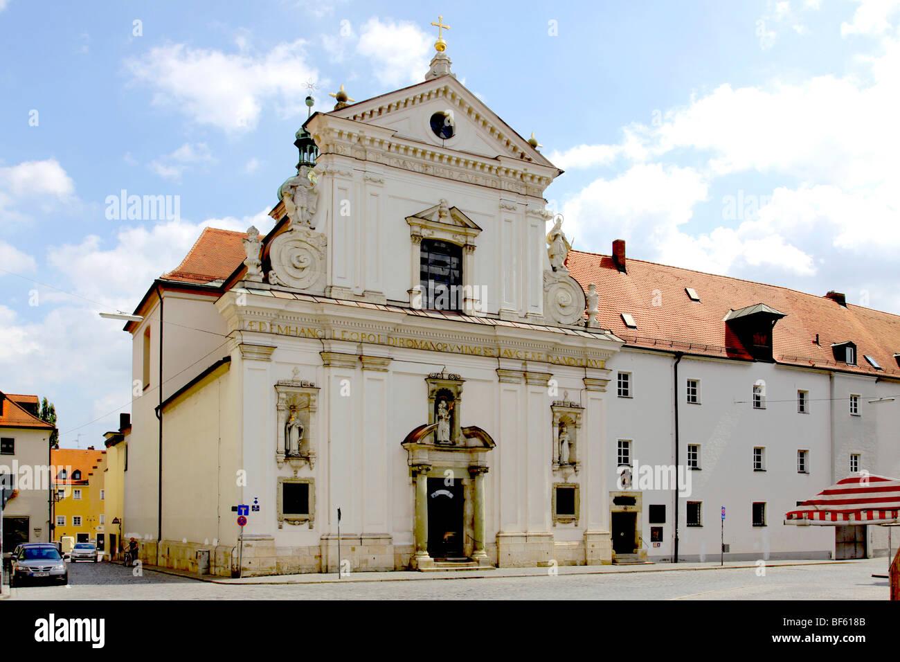carmelites church st joseph on kornmarkt regensburg upper stock photo royalty free image. Black Bedroom Furniture Sets. Home Design Ideas
