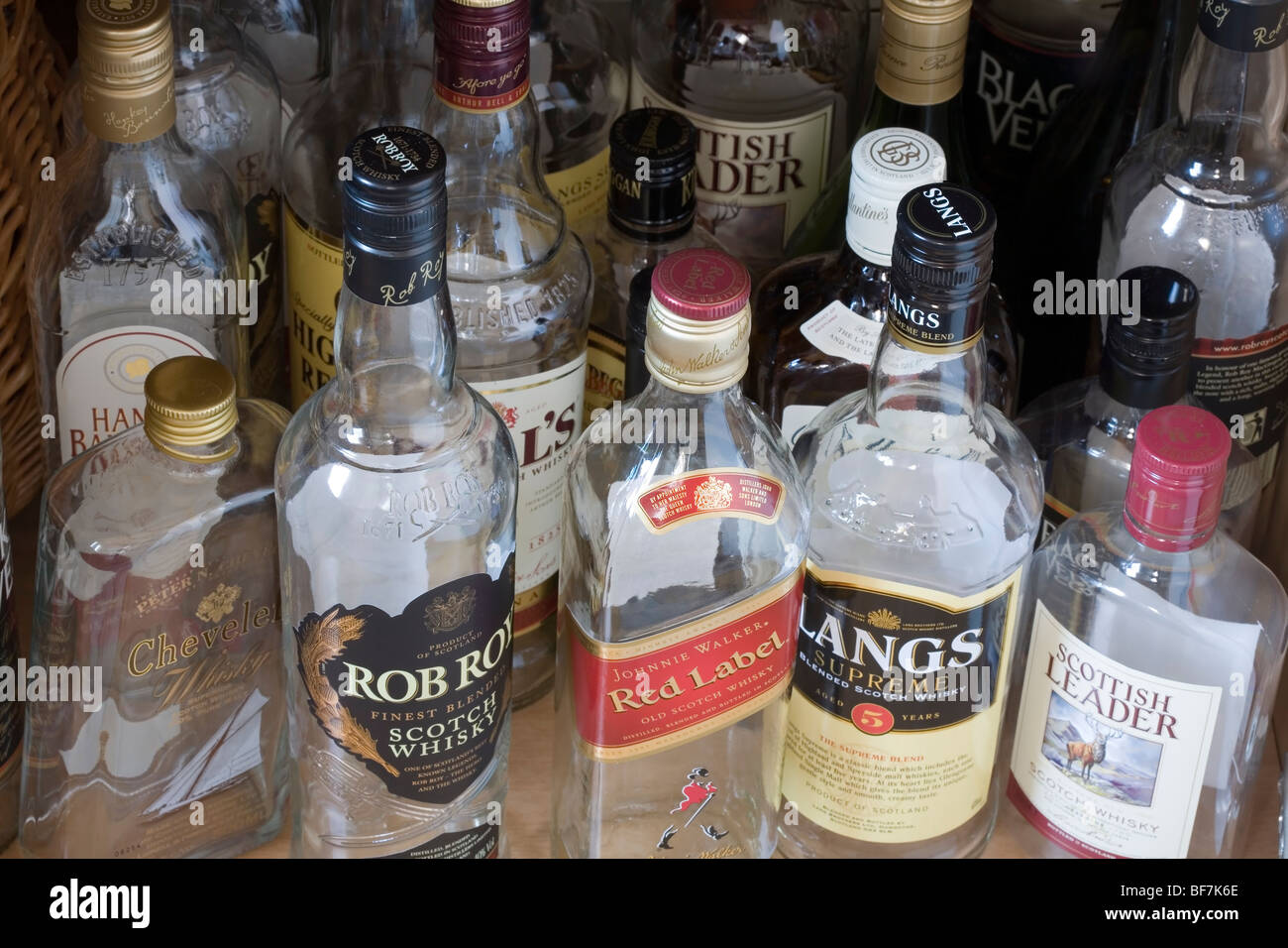 empty whiskey bottles Stock Photo, Royalty Free Image ...