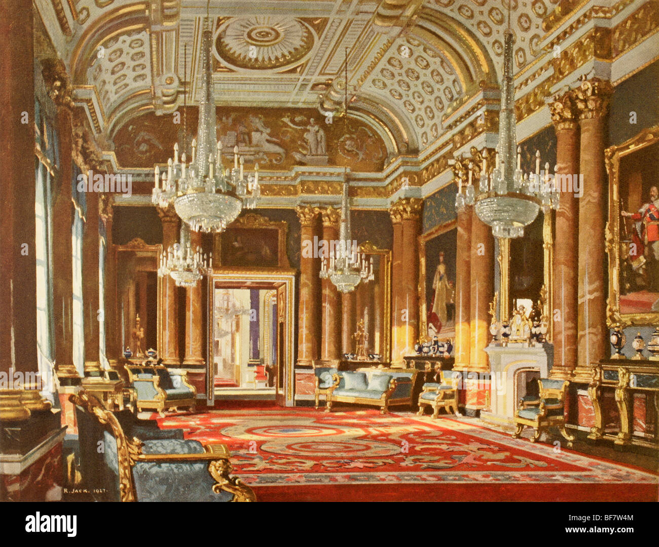 Throne room buckingham palace - The Blue Drawing Room Formerly The Ballroom In Buckingham Palace London England