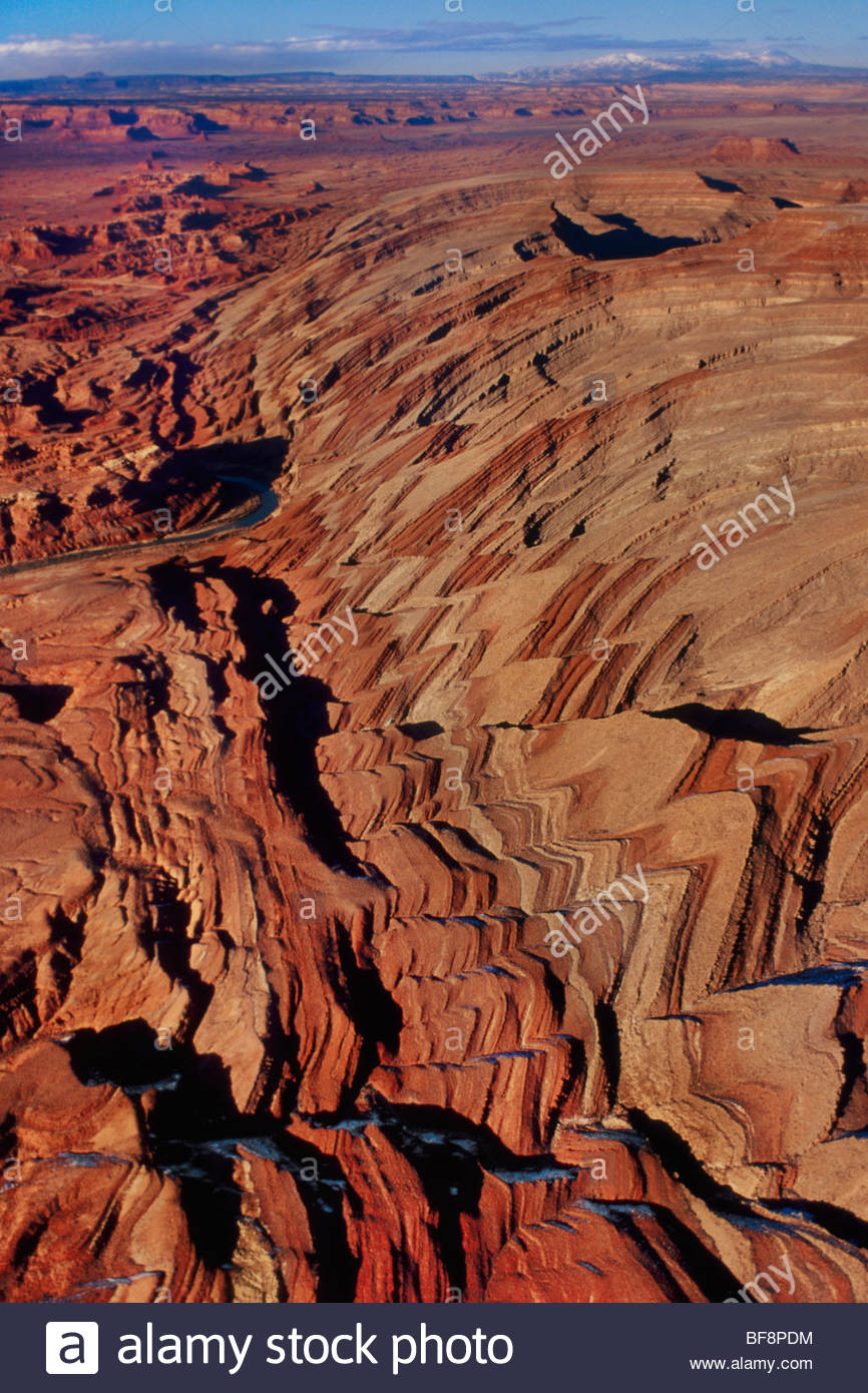 USA, Utah, Capitol Reef National Park, Waterpocket Fold formations ...