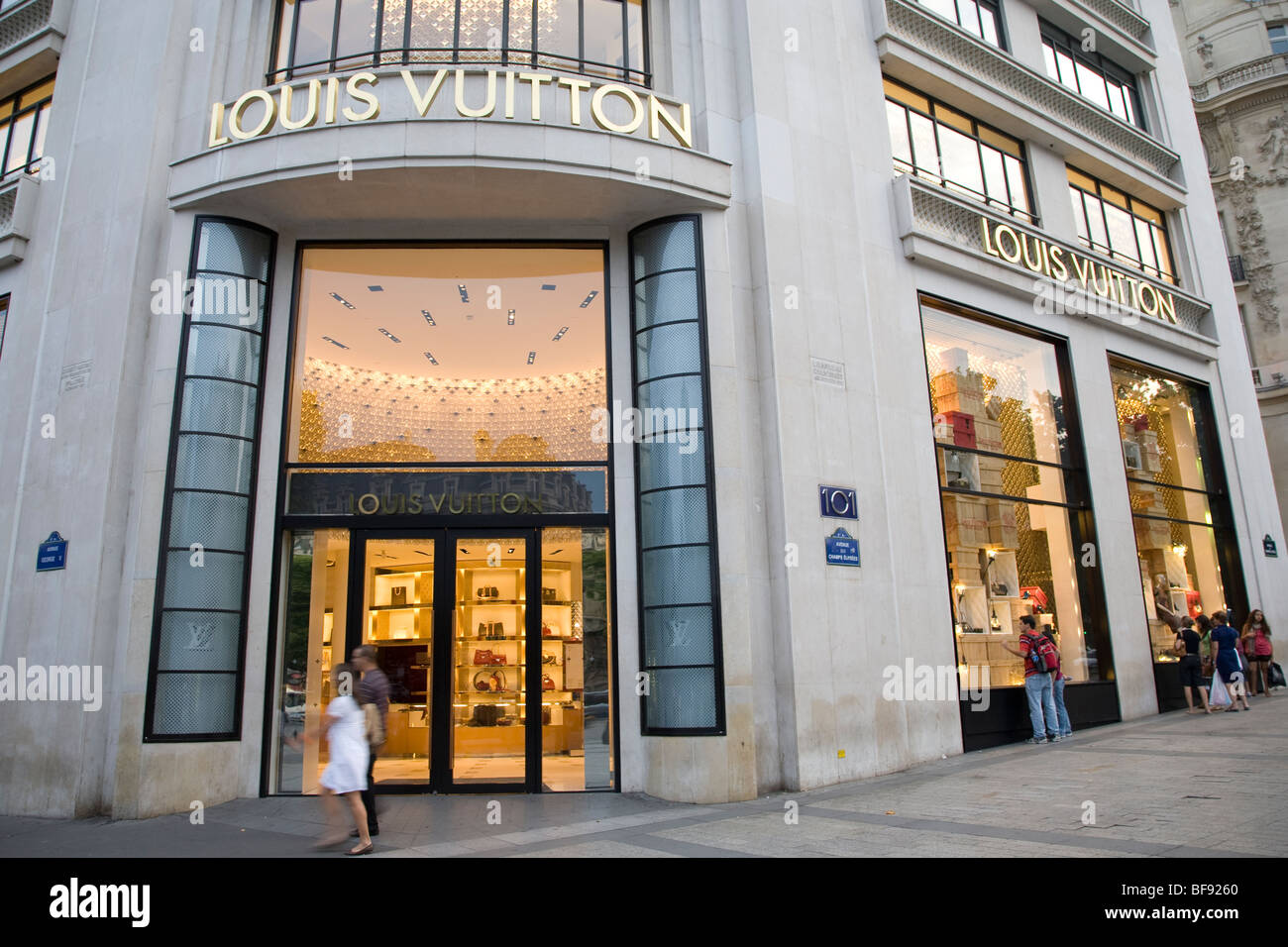 Louis vuitton shop champs elysees paris france stock photo royalty free i - Paris shopping boutiques ...