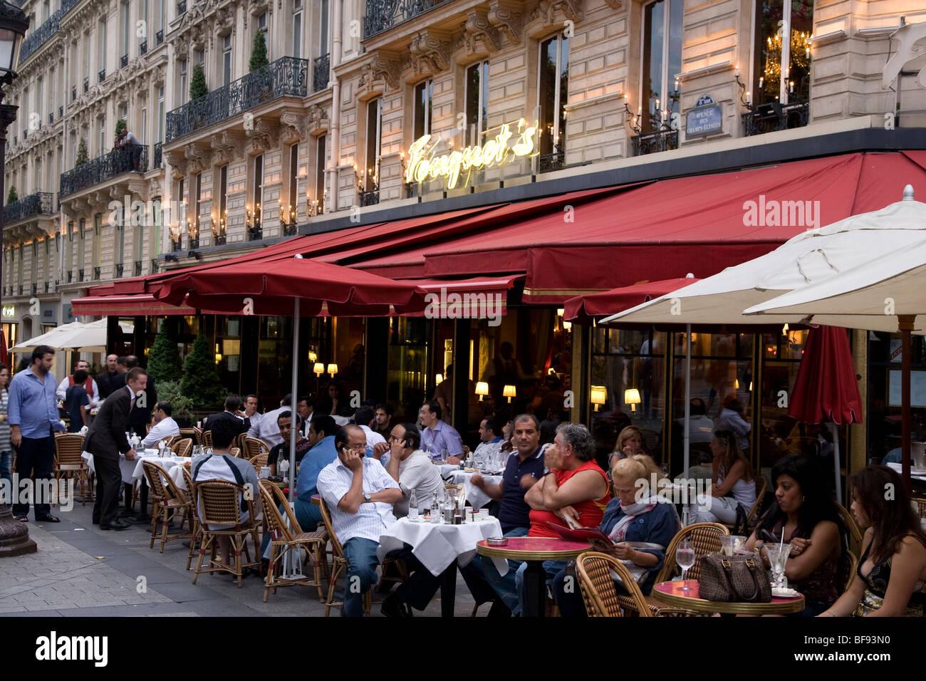 fouquets restaurant champs elysees paris france stock photo royalty free image 26630716 alamy. Black Bedroom Furniture Sets. Home Design Ideas