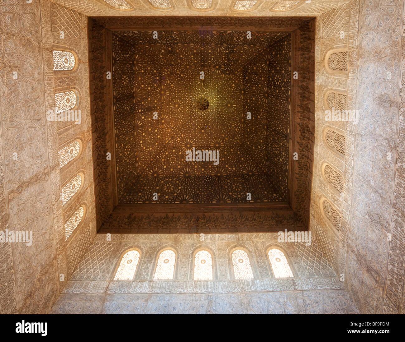 Hall of the Ambassadors (Salón de los Embajadores), the Alhambra Stock Photo,...