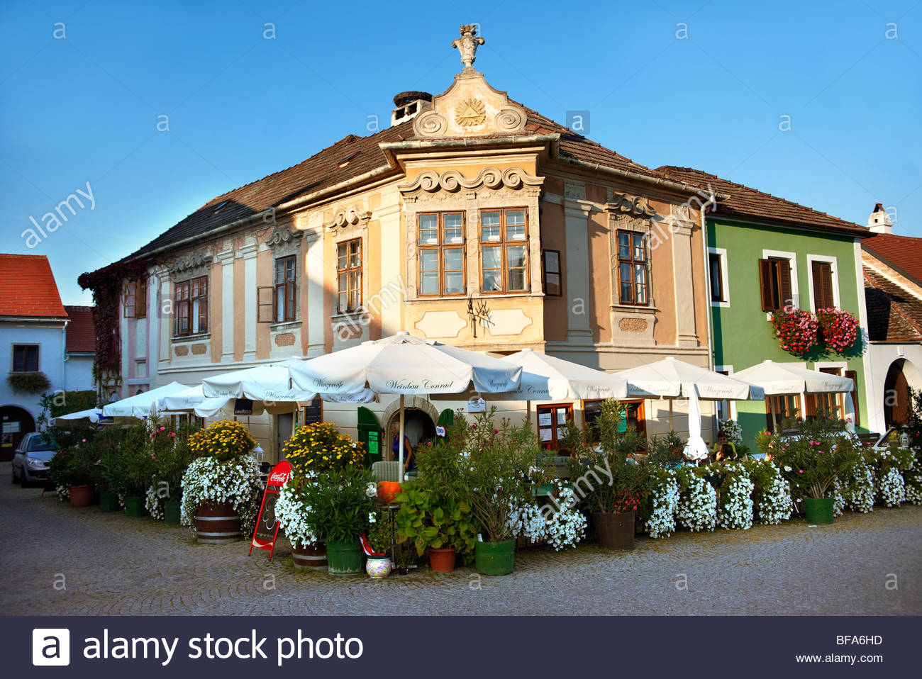 Rust neusiedlersee  Buildings on the main square, Rust ( Hungarian: Ruszt ) on the ...