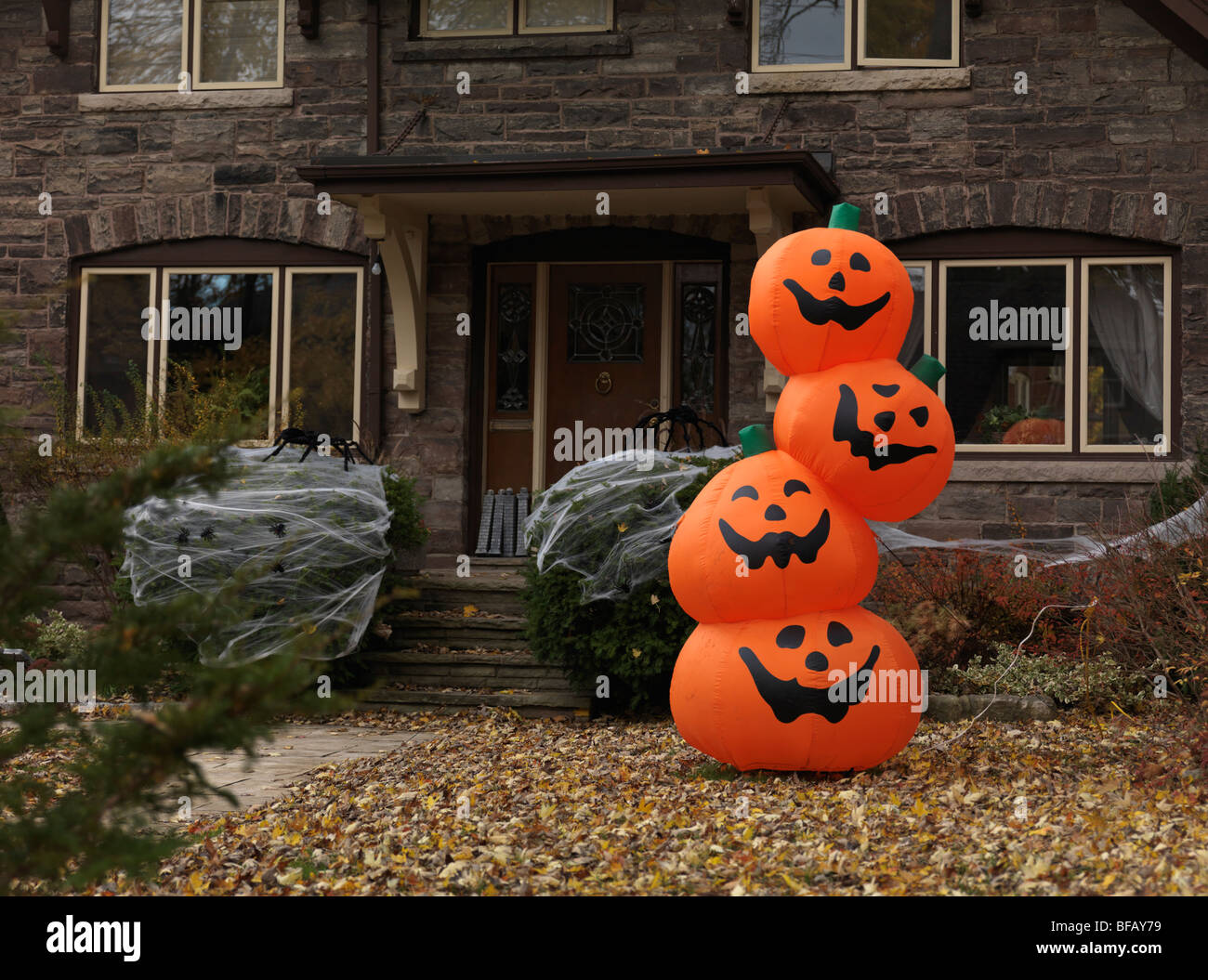 Decorated for halloween house in toronto ontario canada stock photo royalty free image - Halloween decorations toronto ...