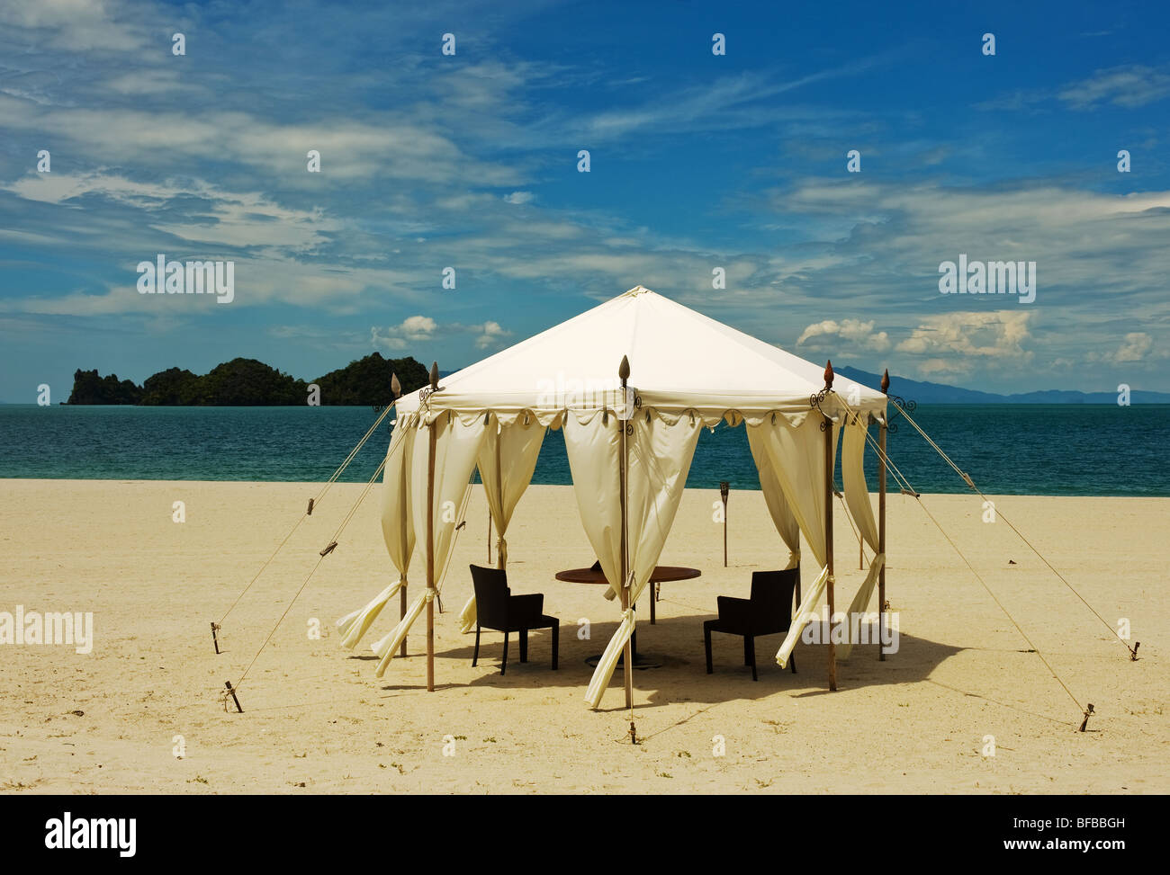 A tent on a deserted beach in Langkawi Malaysia & A tent on a deserted beach in Langkawi Malaysia Stock Photo ...