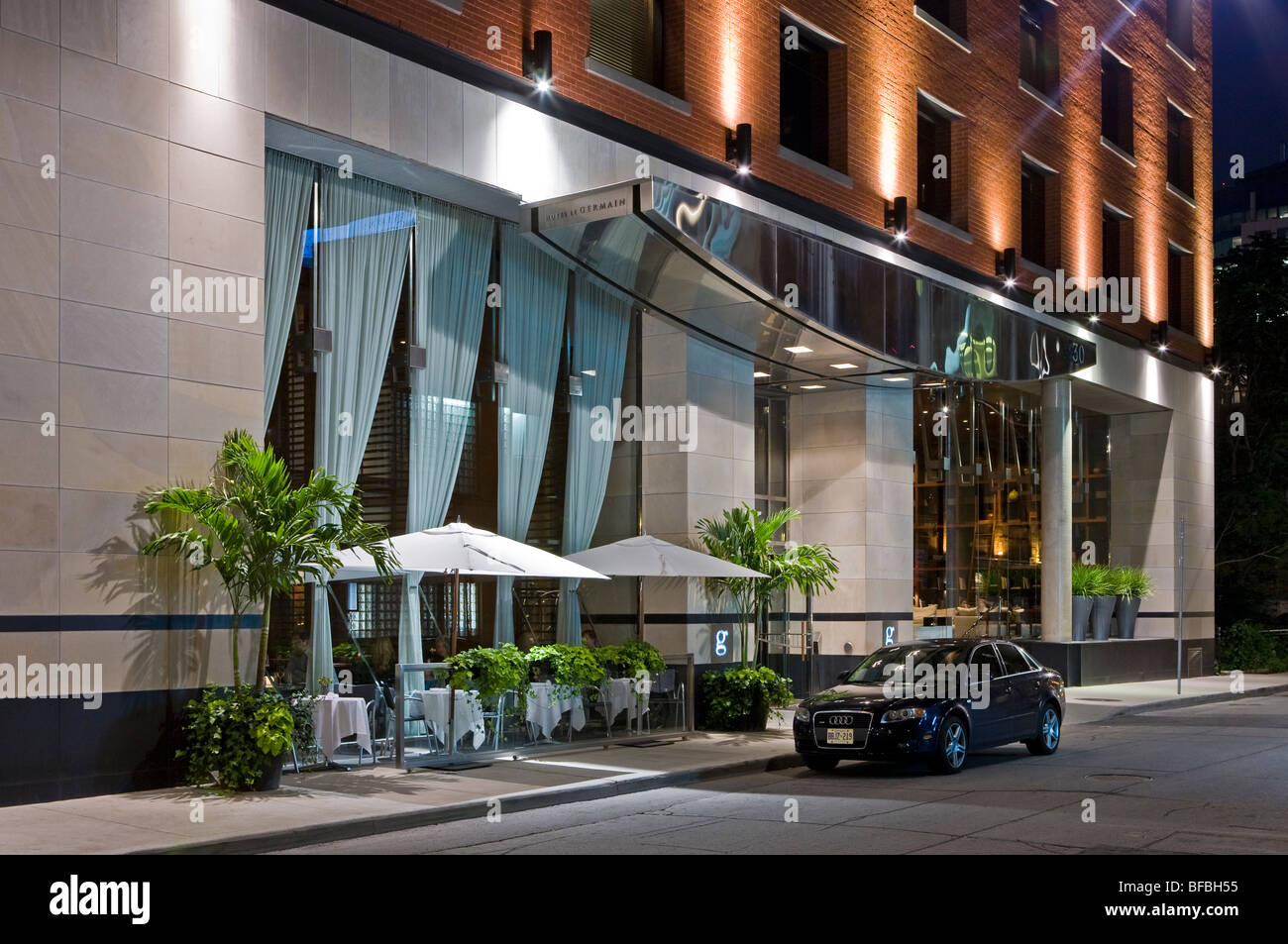 Audi parked by the hotel entrance luxury boutique hotel for Luxury hotel boutique