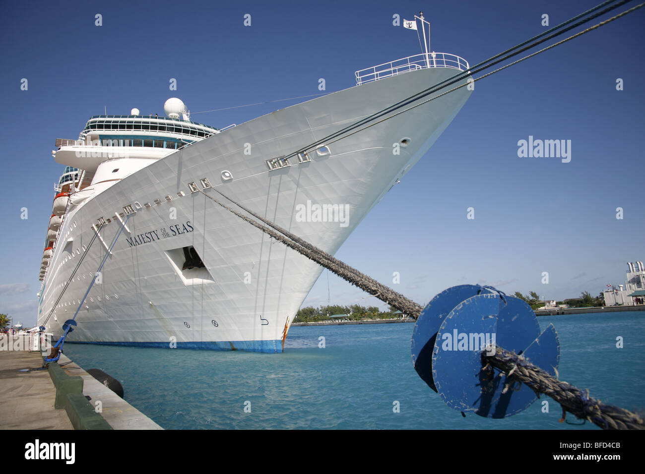 majesty of the seas cruise ship in nassau harbour new
