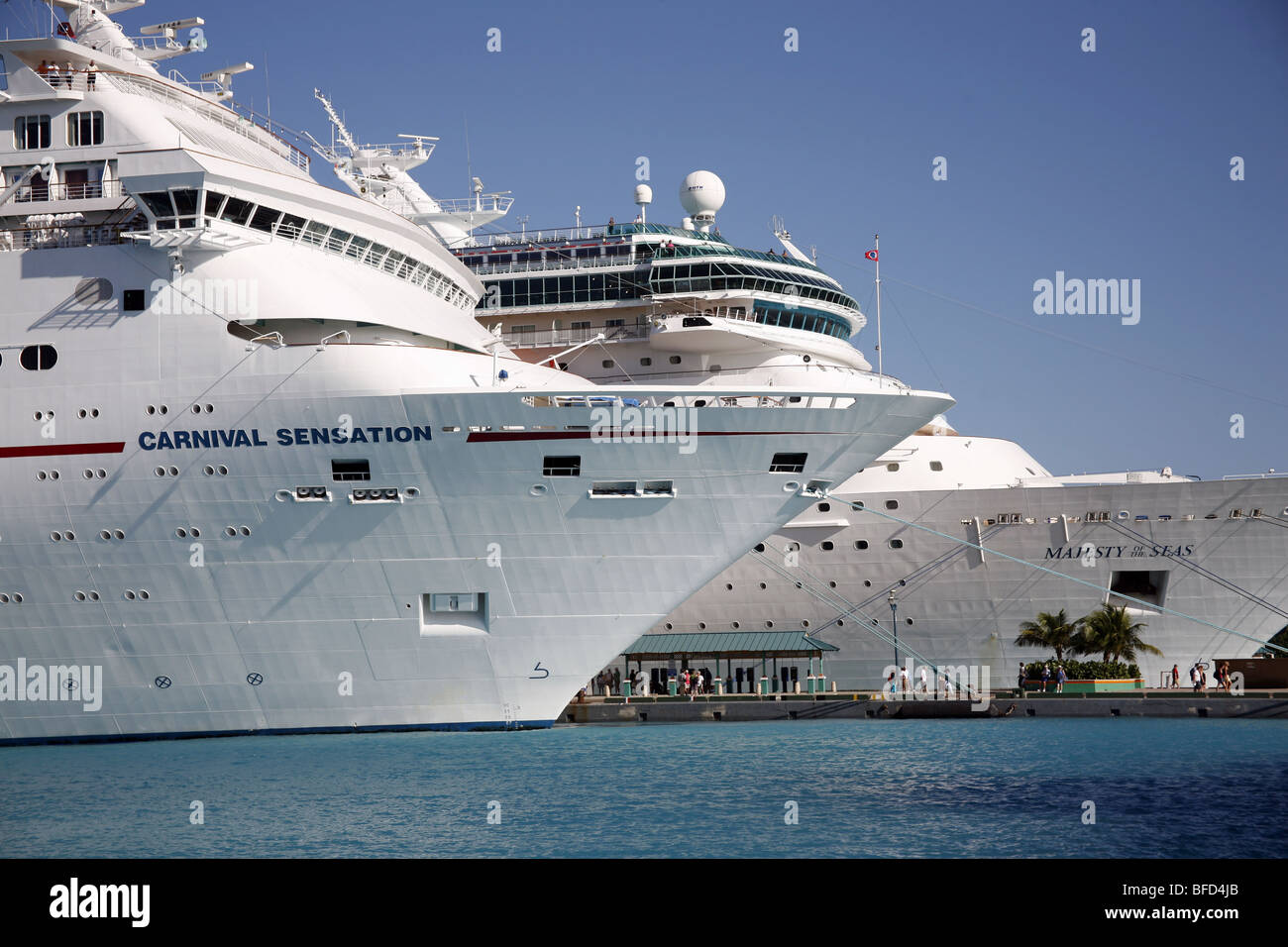 The Carnival Sensation And Majesty Of The Seas Cruise Ship In - Sensation cruise ship pictures