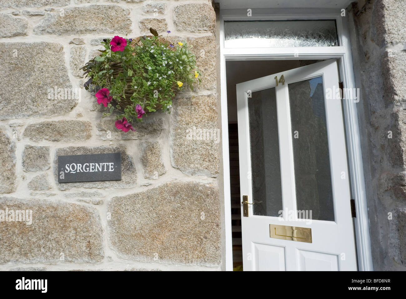 cottage front doorsTraditional Cornish miners cottage front door open Cornwall UK