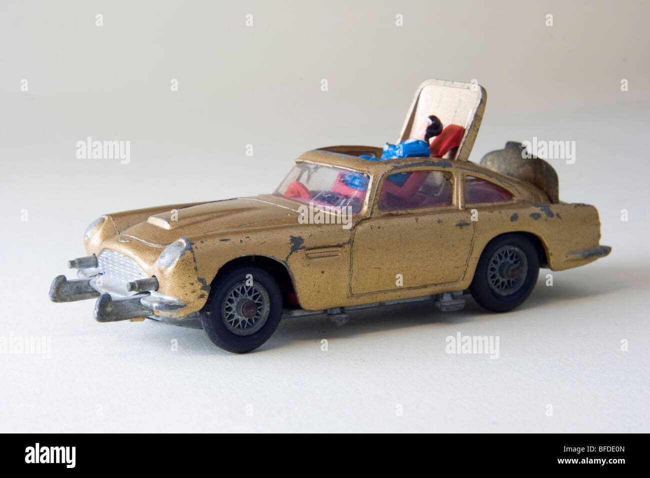 corgi james bond aston martin db5 car stock photo, royalty free