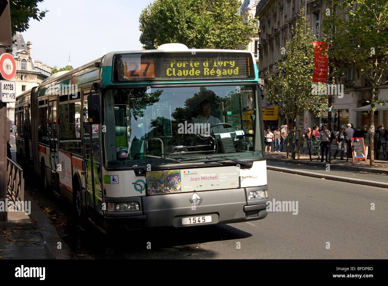 public transportation bus in paris france stock photo royalty free image 26733153 alamy. Black Bedroom Furniture Sets. Home Design Ideas