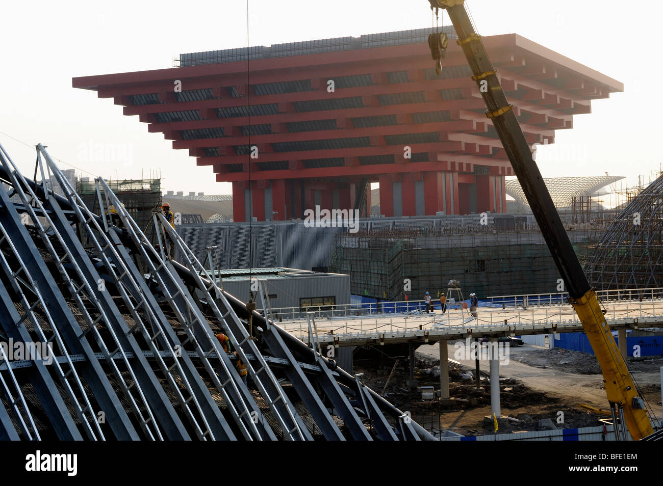 Construction site of China Pavilion of the World Expo 2010 in ...