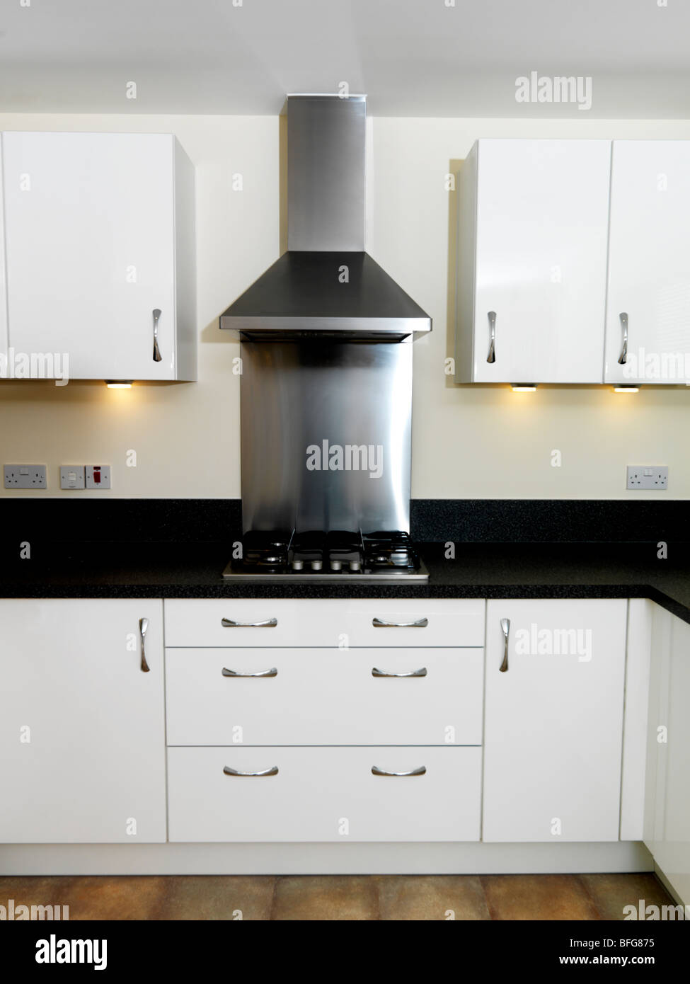 Black kitchen extractor hoods