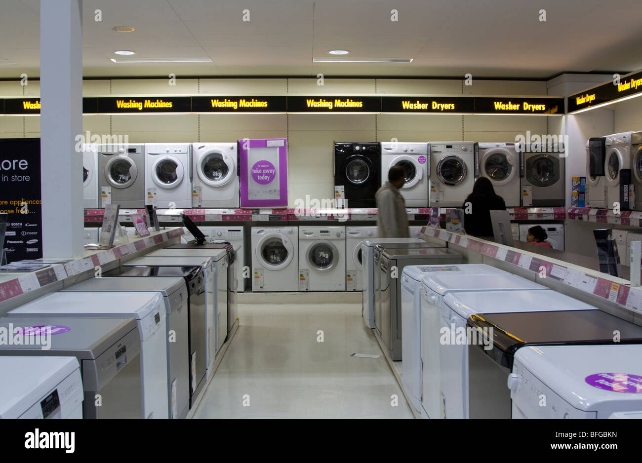Comet Home Appliance Section Watford Hertfordshire Stock