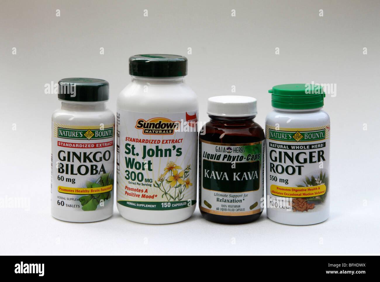 Cheap herbal supplement - Herbal Supplements In Bottles Ginkgo Biloba St John S Wort Kava Kava Ginger Root