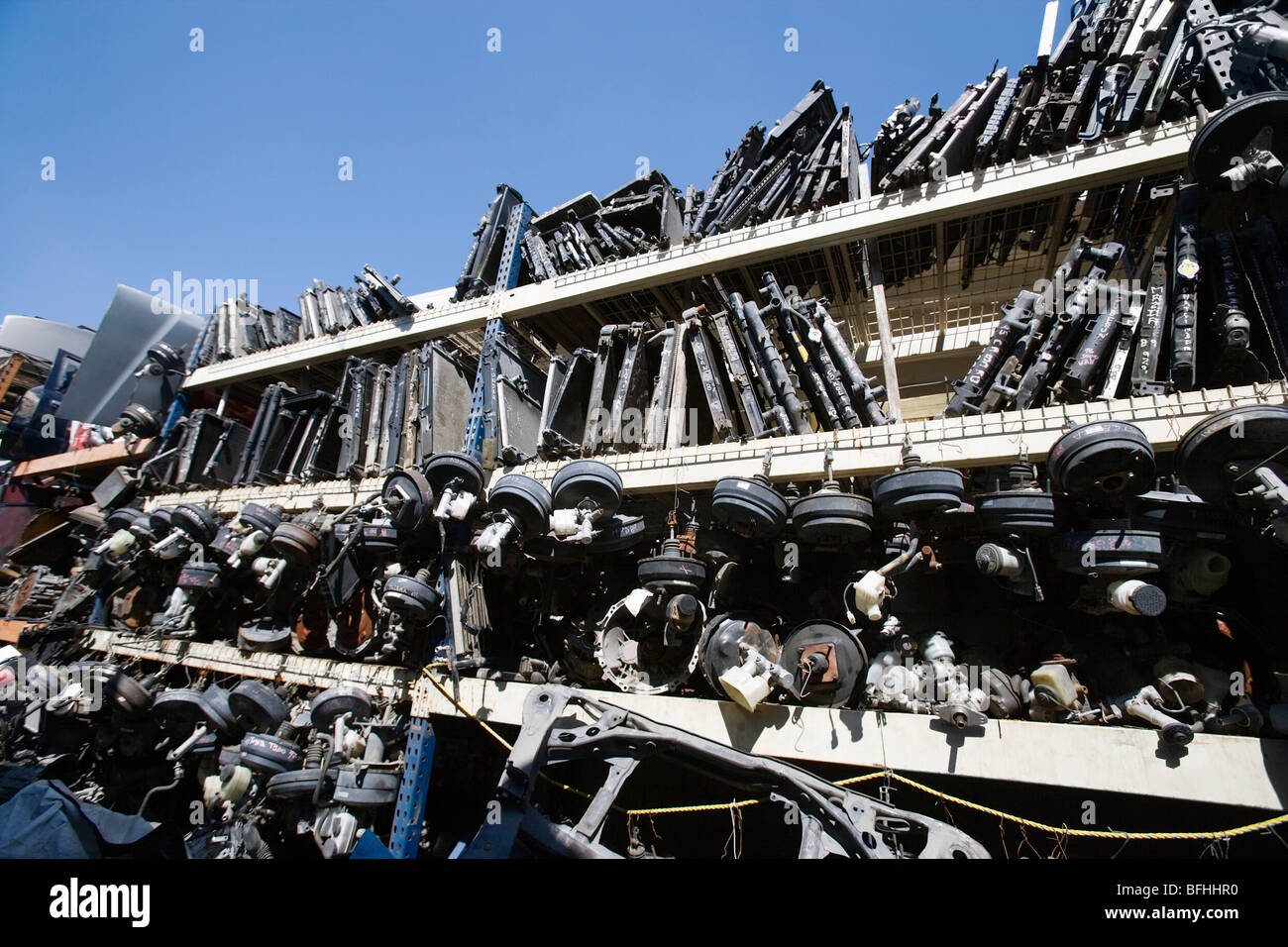 Old car parts in junkyard Stock Photo: 26817364 - Alamy