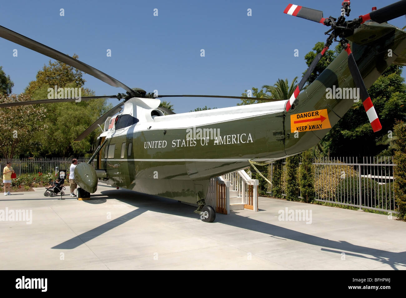 marine one the presidential helicopter used by richard nixon on display at the nixon