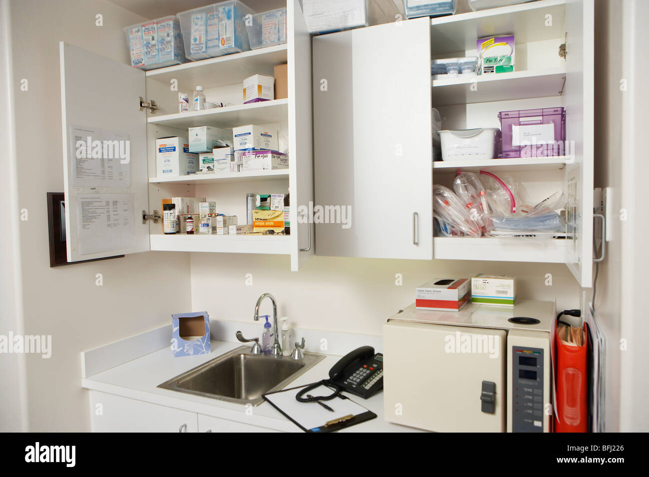 medical cabinets in hospital stock photo royalty free image  - medical cabinets in hospital