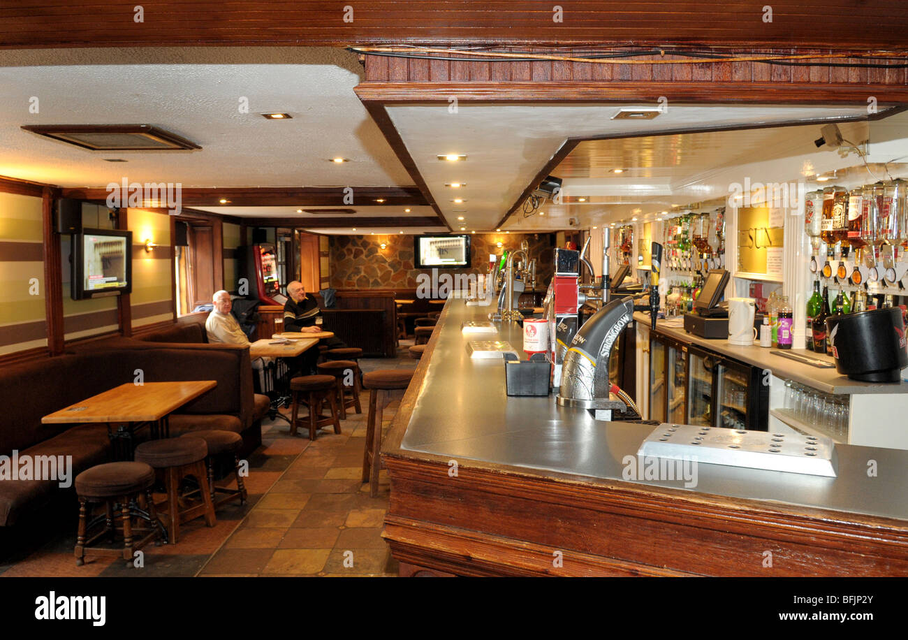 An Interior Shot Of A Bar Inside A Pub In Scotland Stock