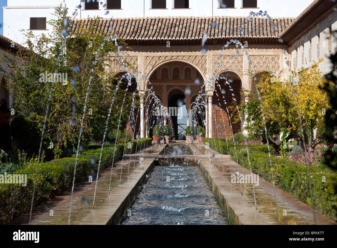 Patio de la acequia watercourses generalife gardens and for Generalife gardens