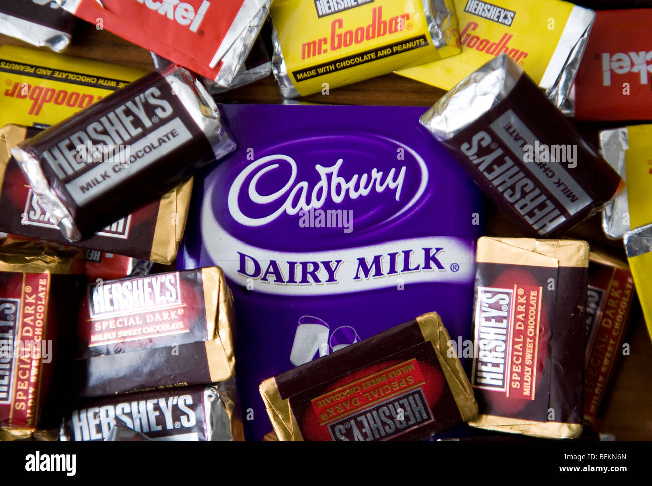 Hershey's and Cadbury chocolates Stock Photo, Royalty Free Image ...