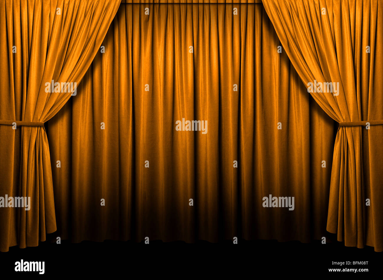 Gold stage curtain - Gold Stage Curtain With Light And Shadows