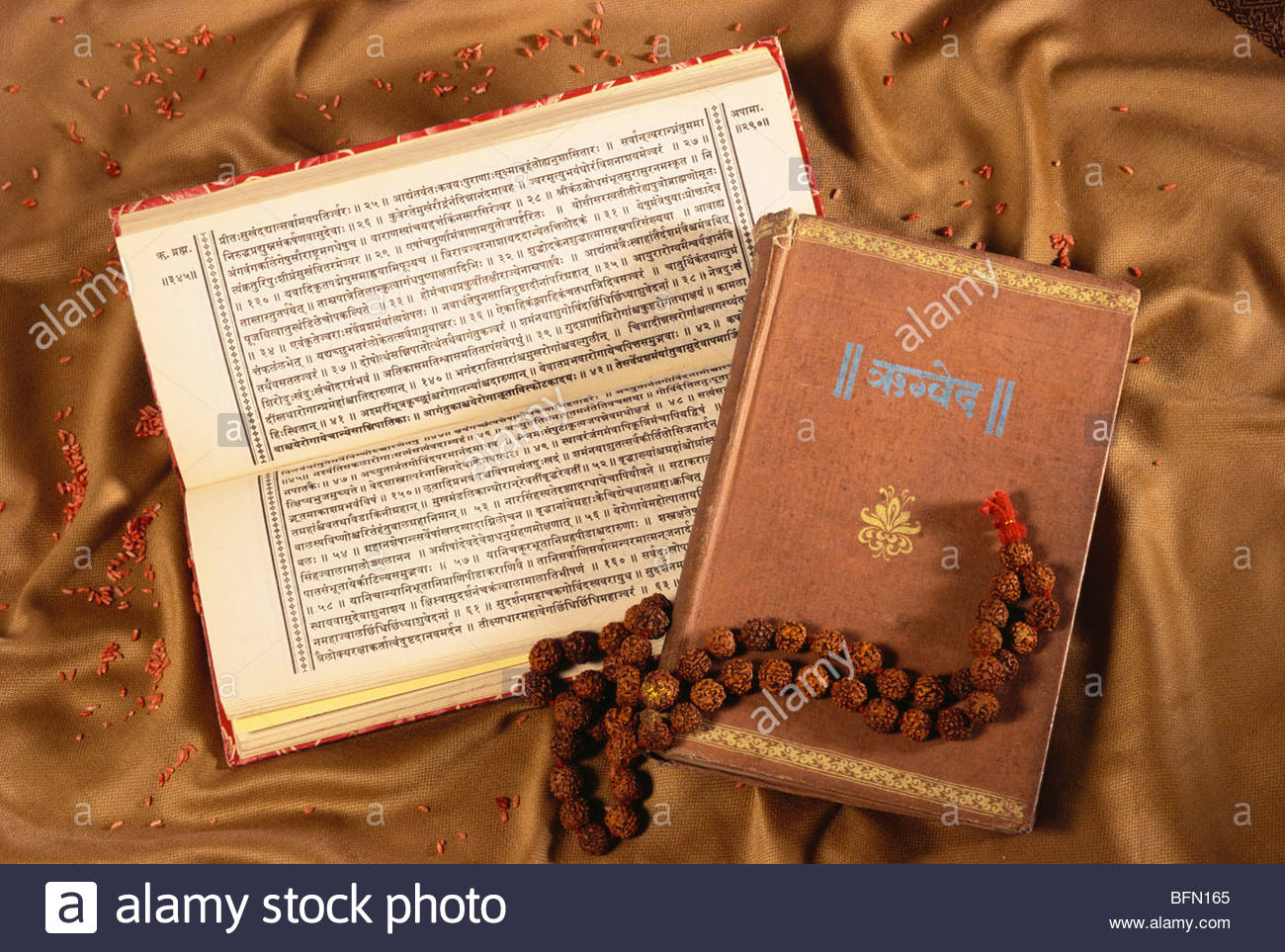 Sanskrit Of The Vedas Vs Modern Sanskrit: Rigved In Sanskrit Religious Book Explaining Indian Vedas