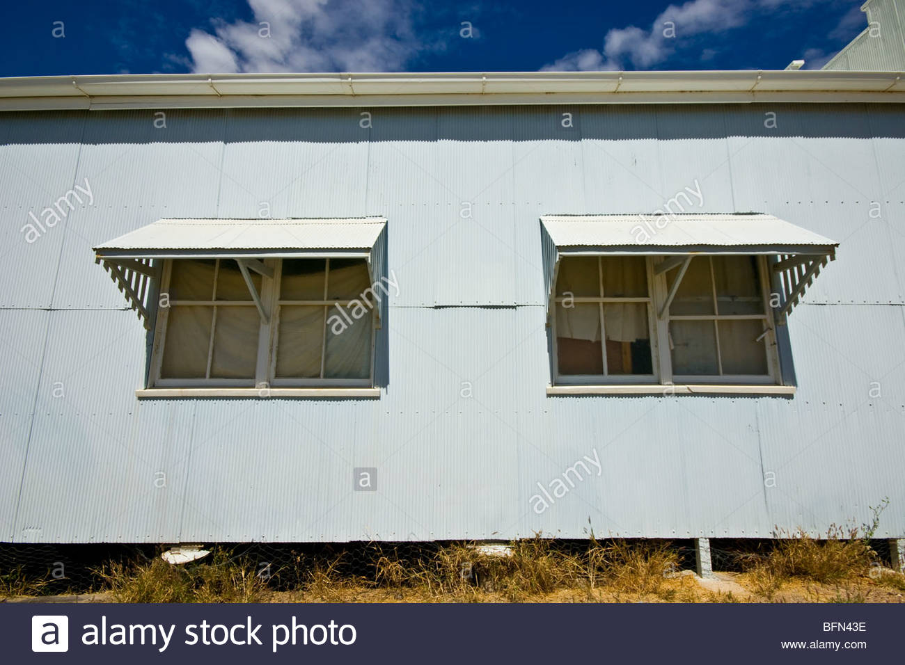 Awesome Large Awnings Cast Deep Shadows Over Windows In A Baking Outback Town