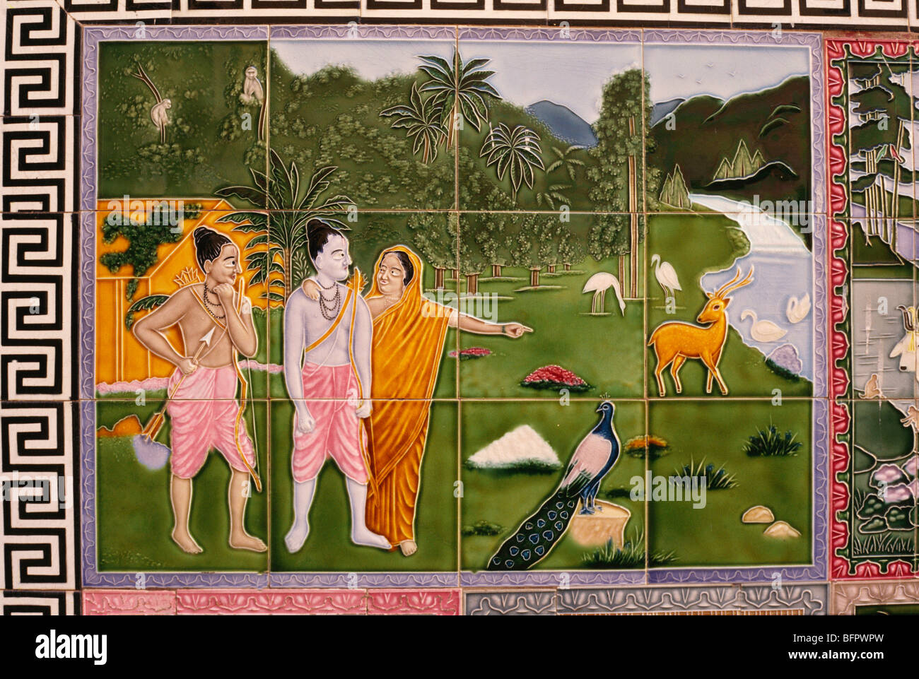 Hpa 66530 ramayana scene on ceramic tiles india stock photo hpa 66530 ramayana scene on ceramic tiles india dailygadgetfo Gallery