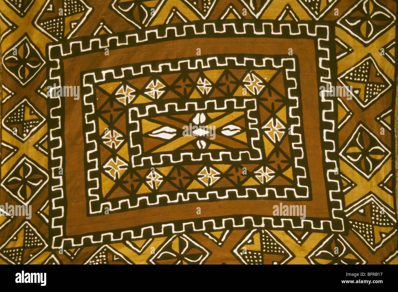 stock photo traditional mudcloth painting bogolan closeup