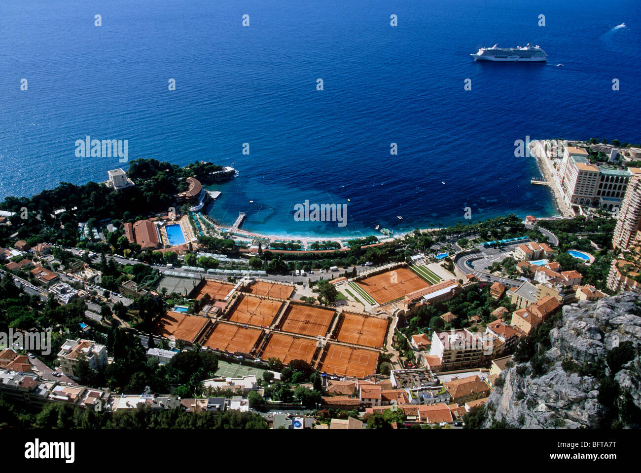 hotel monte carlo bay resort and the tennis country club of monaco stock photo royalty free