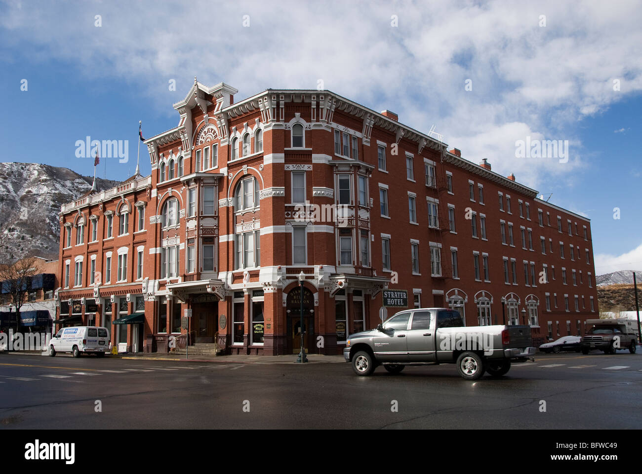 strater hotel and downtown durango colorado usa stock. Black Bedroom Furniture Sets. Home Design Ideas