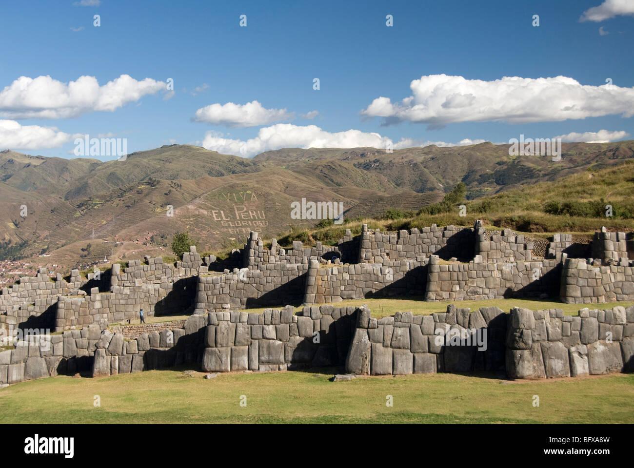 Mountain living near cusco peru royalty free stock photo - Peru Near Cusco Sacsayhuaman Fortress Ramparts