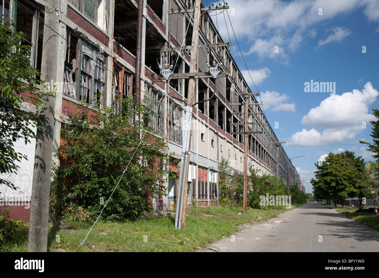 Detroit, Michigan - The former Packard factory on Detroit ...
