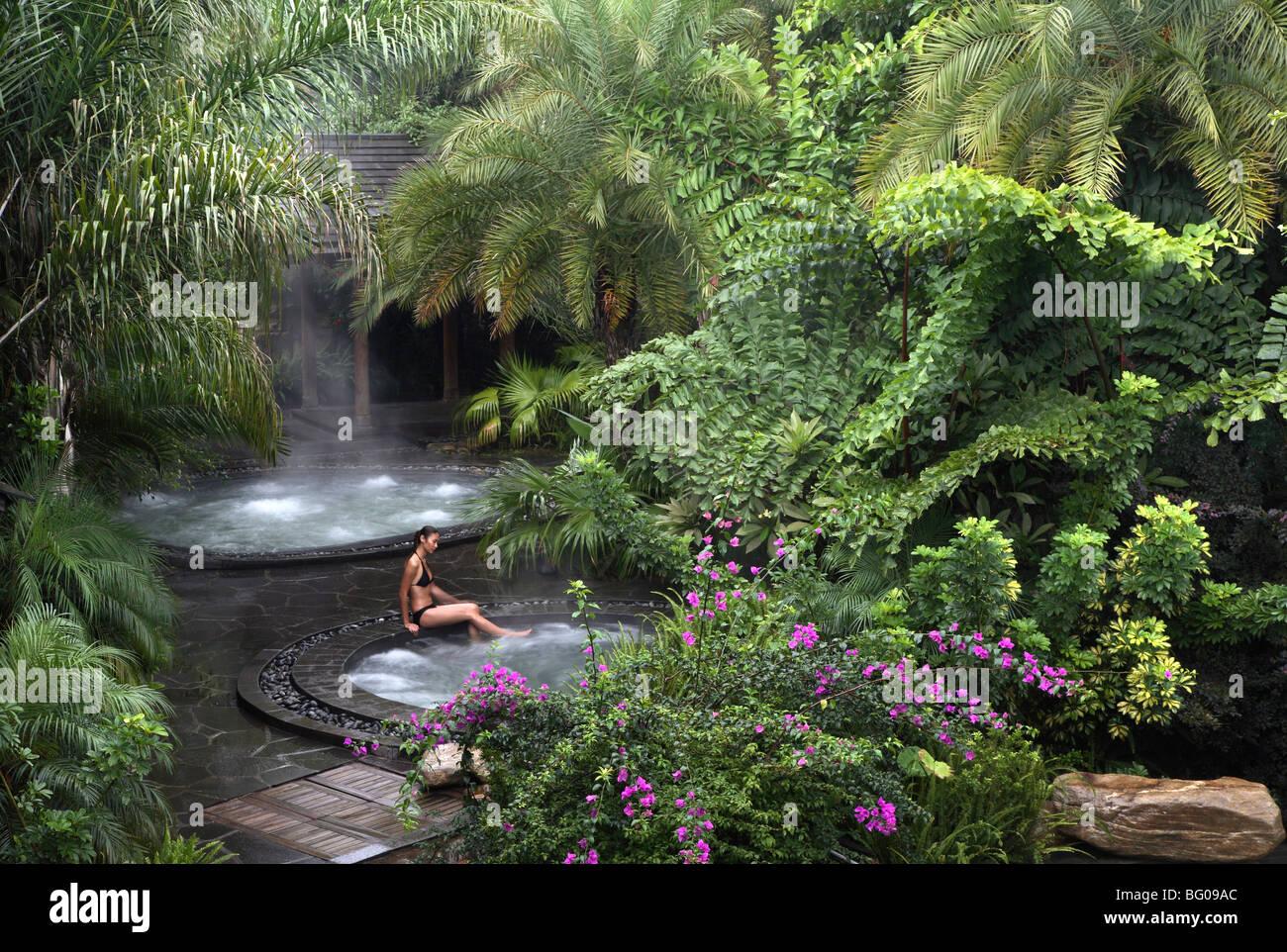 Hot spring pool at the brilliant resort and spa in kunming yunnan province china asia