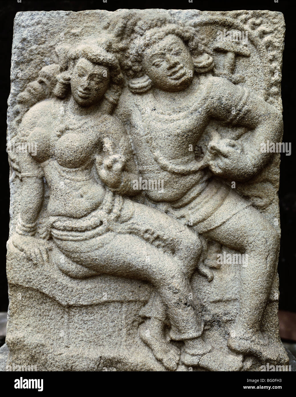 Isurumuni lovers a th century gupta style carving in