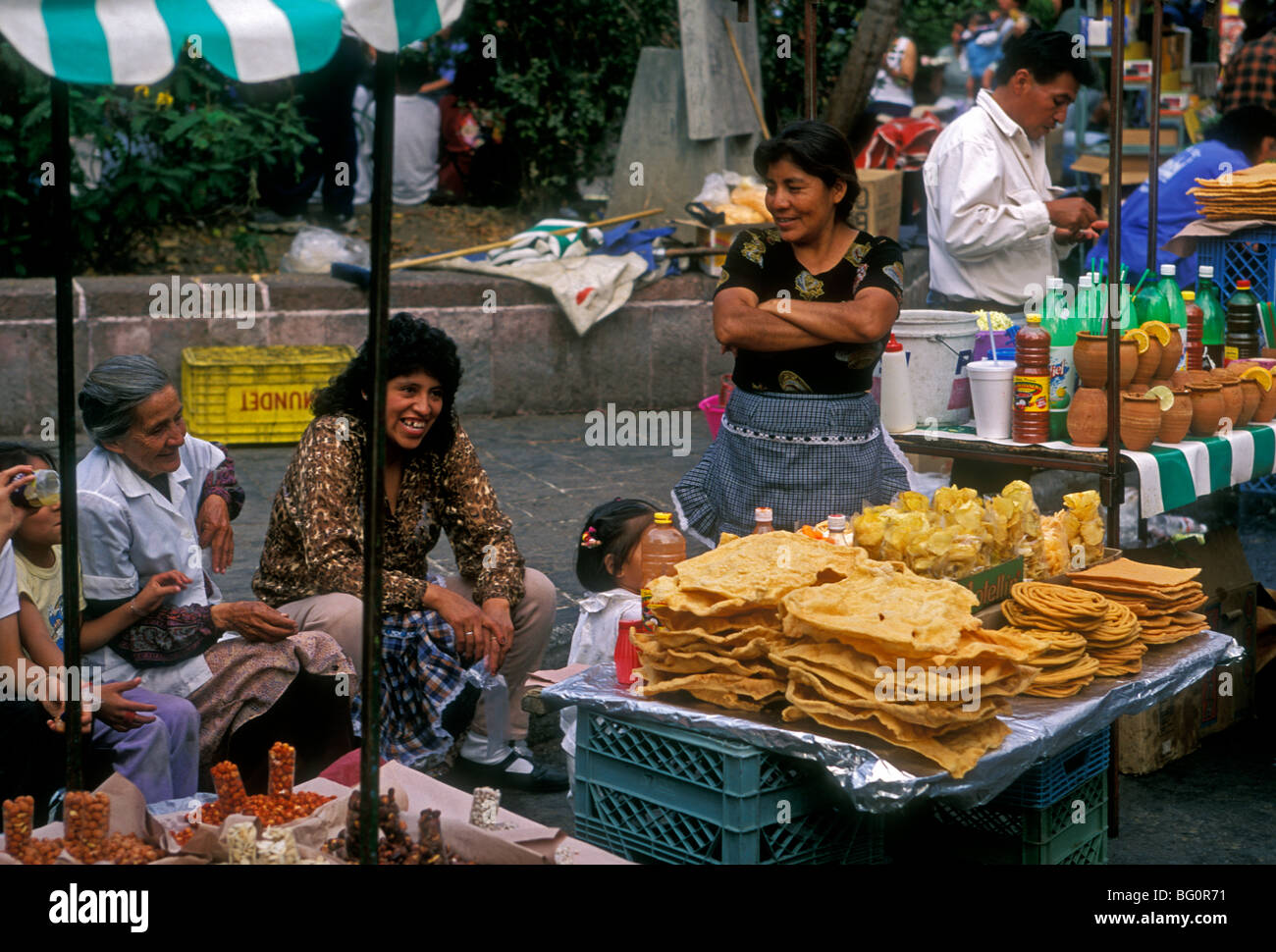 Street Vendors Selling Mexican Food