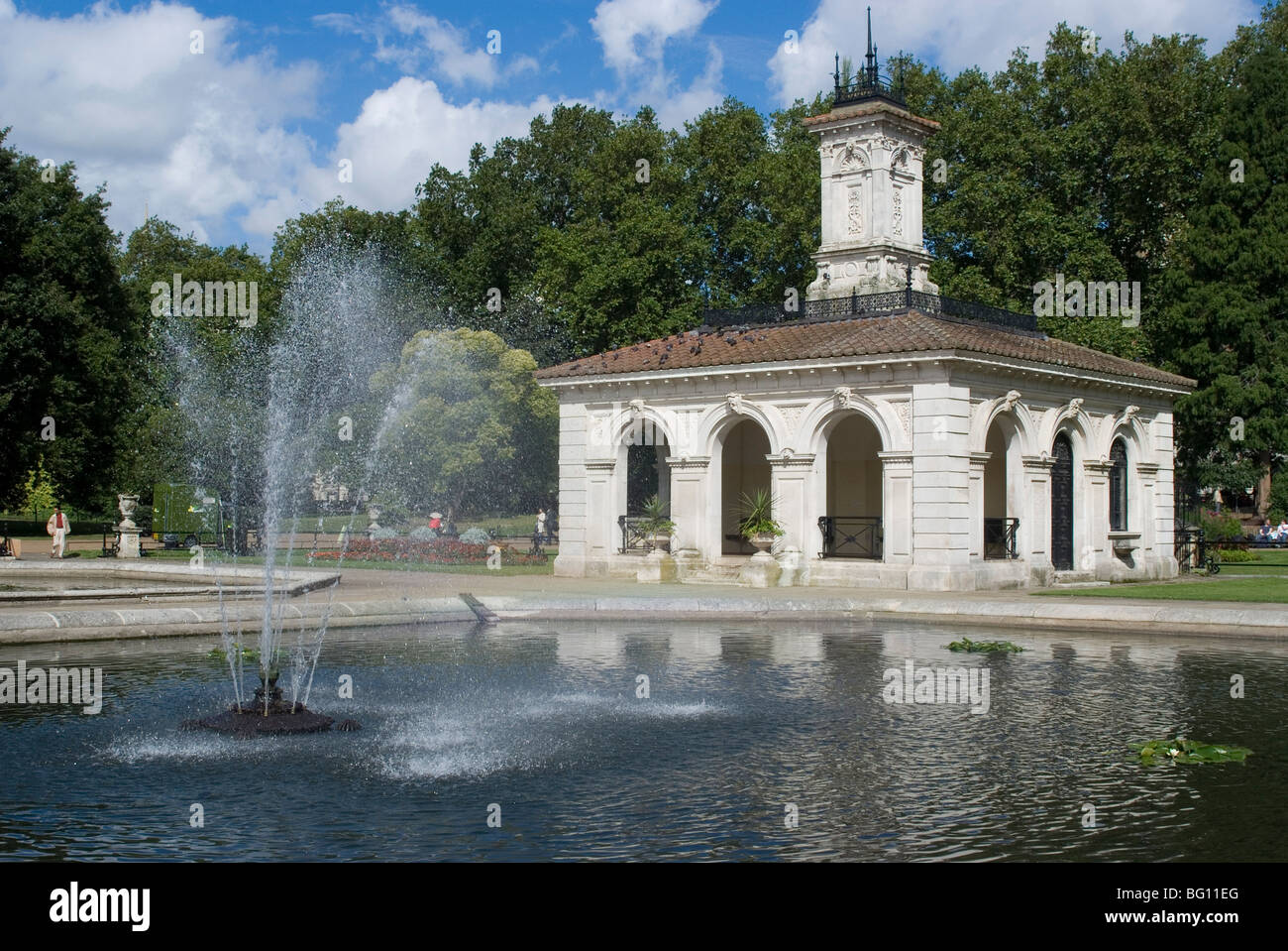 Water fountains hyde park - Pavilion At Lancaster Gate Fountains Hyde Park London England United Kingdom Europe