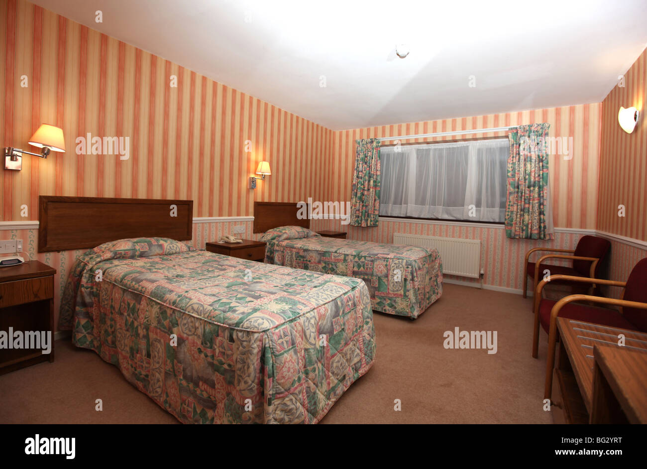 Bedroom For Two Twin Beds Typical Comfortable Hotel Bedroom With Two Twin Beds In The Room