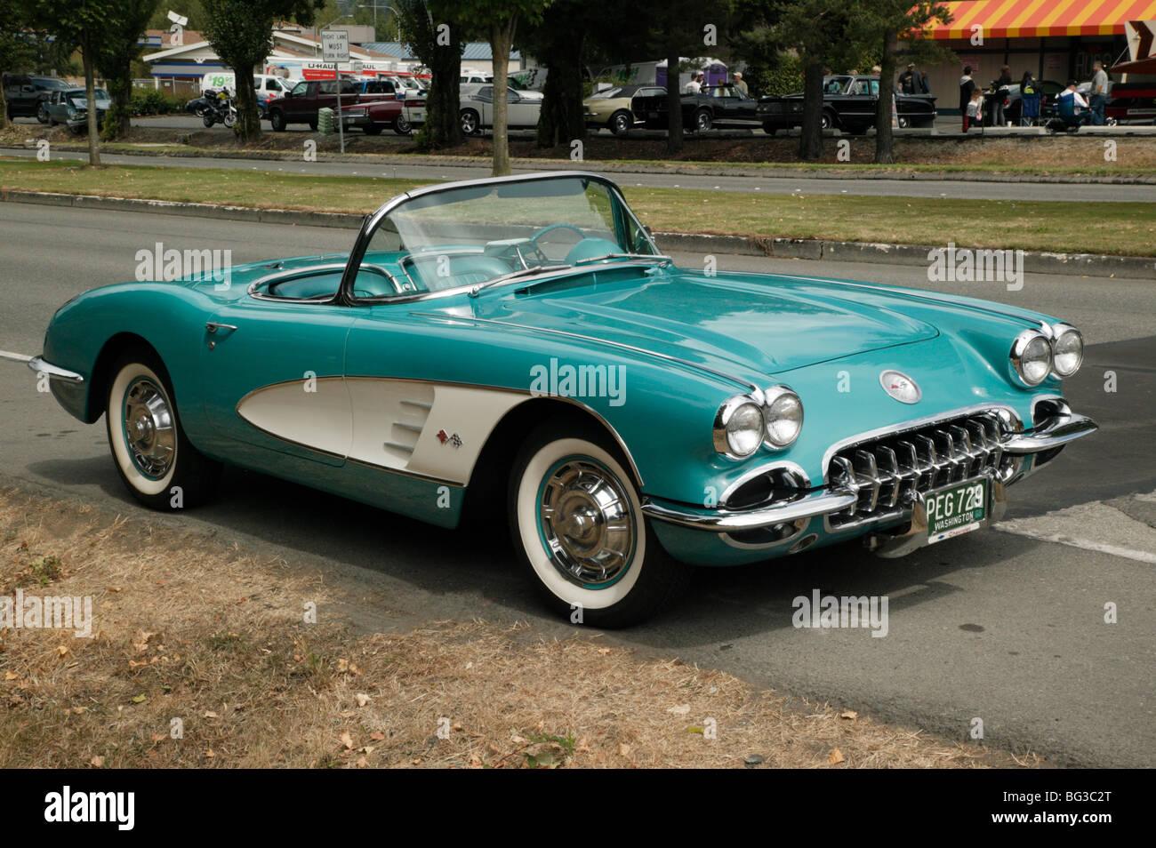 A 1950 S Chevrolet Corvette Convertible Roadster On Show