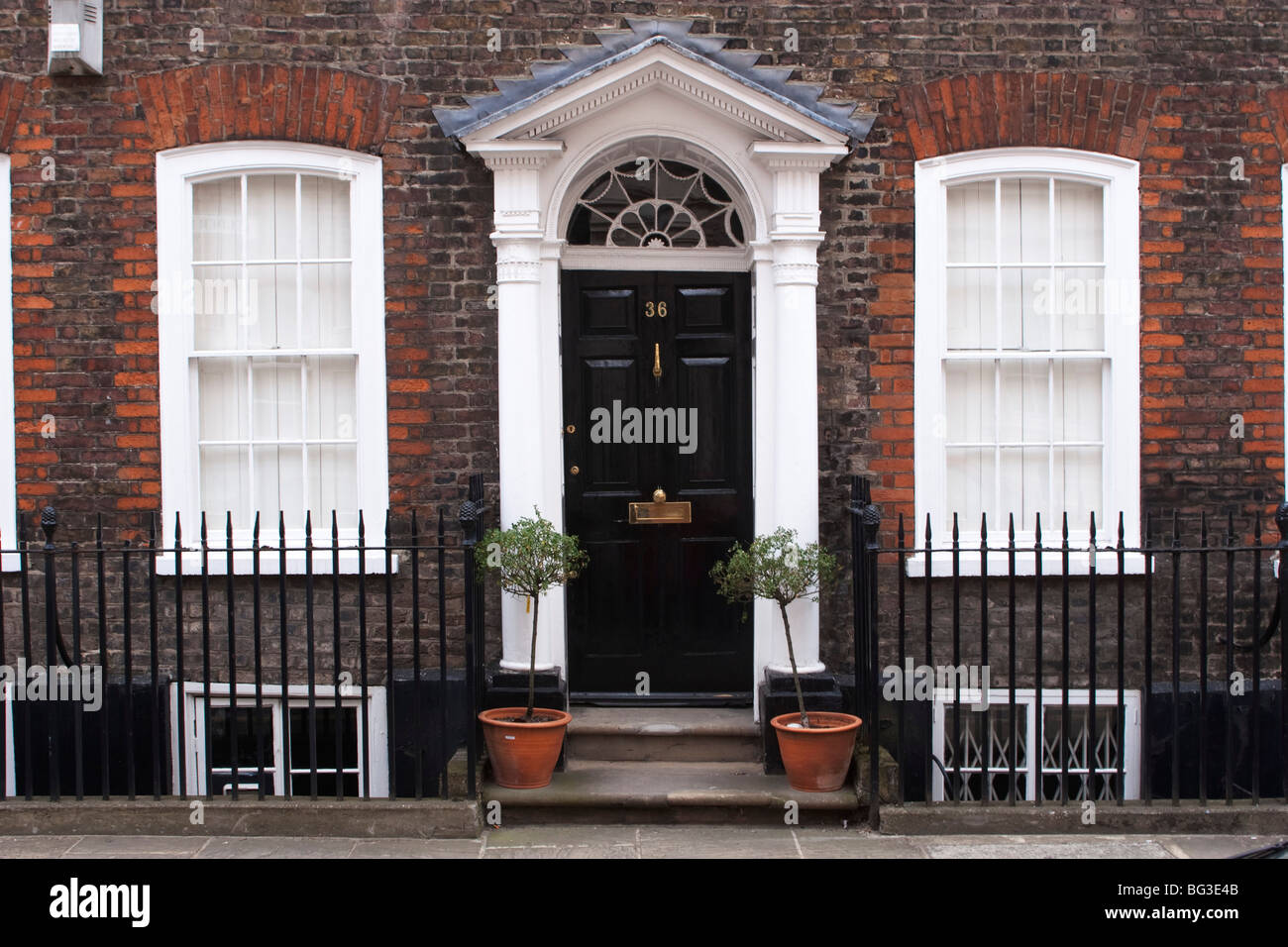 Front door of a house in London. Showing various eras of Stock ...