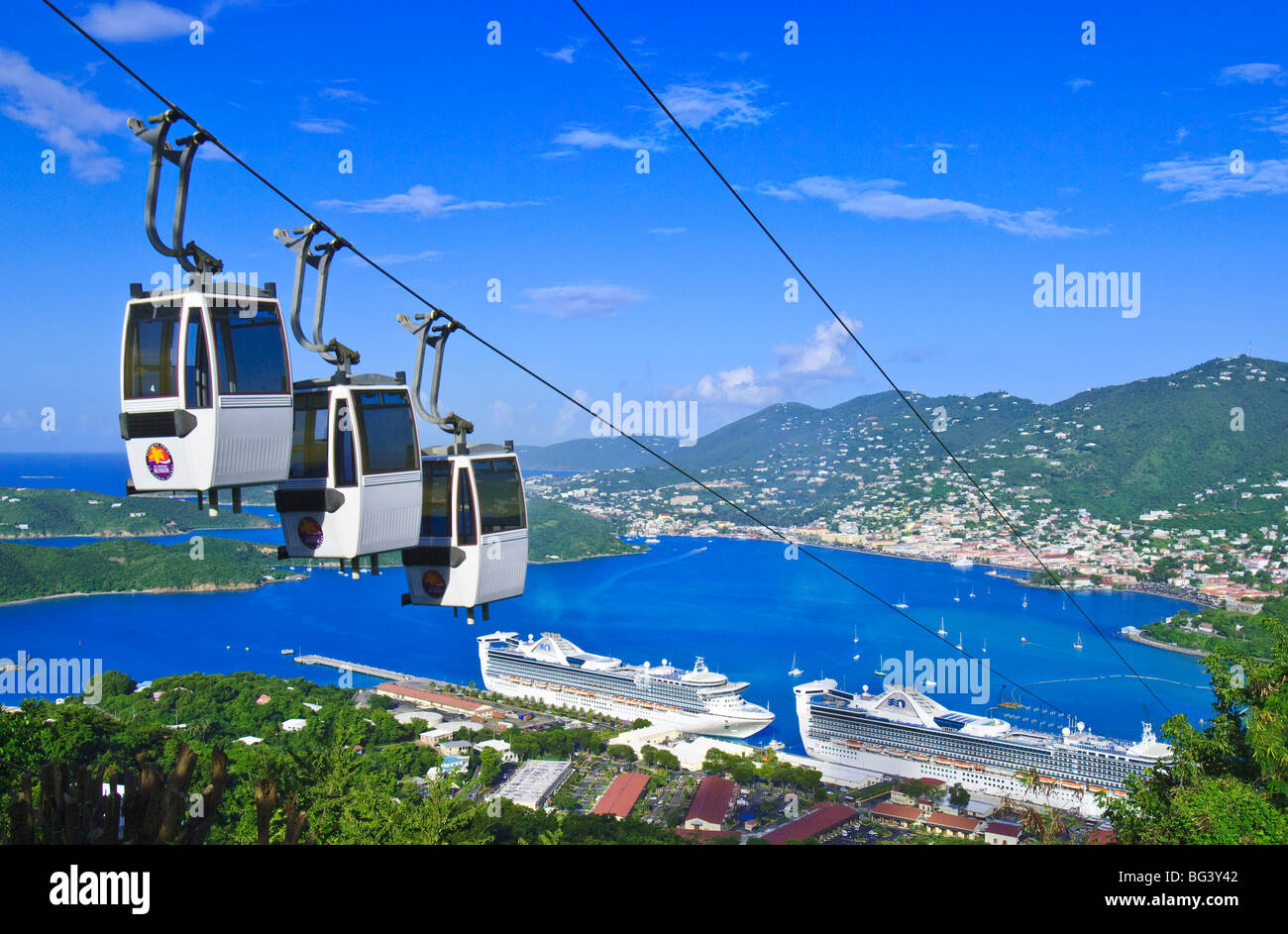 Cable car, St. Thomas, United States Virgin Islands, West Indies ...