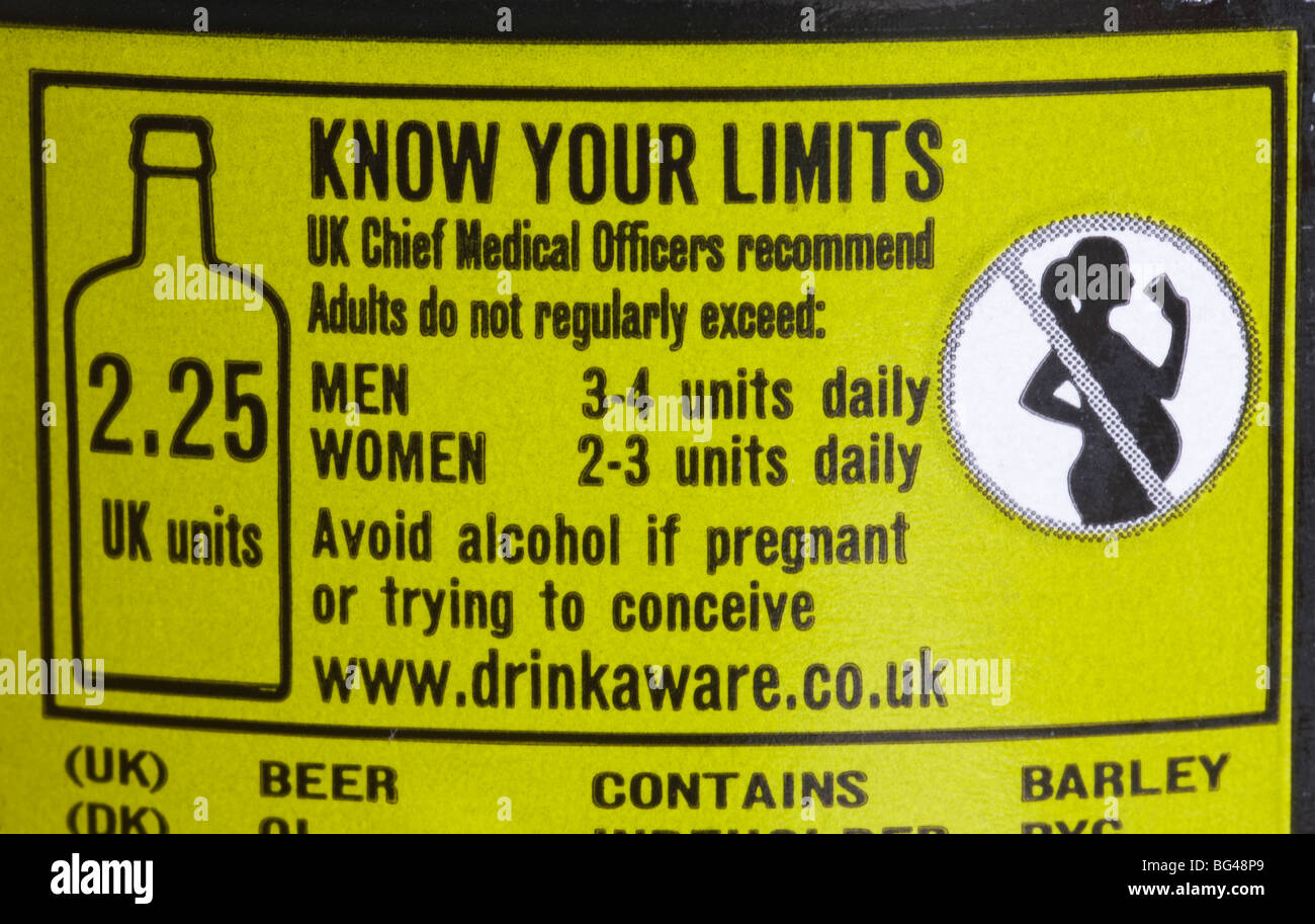know-your-limits-labeling-on-back-of-beer-bottle-BG48P9.jpg