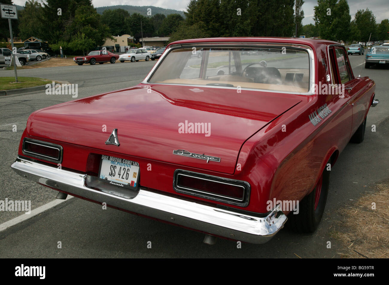 Rear View Of A S Dodge Max Wedge Sedan On Show At The