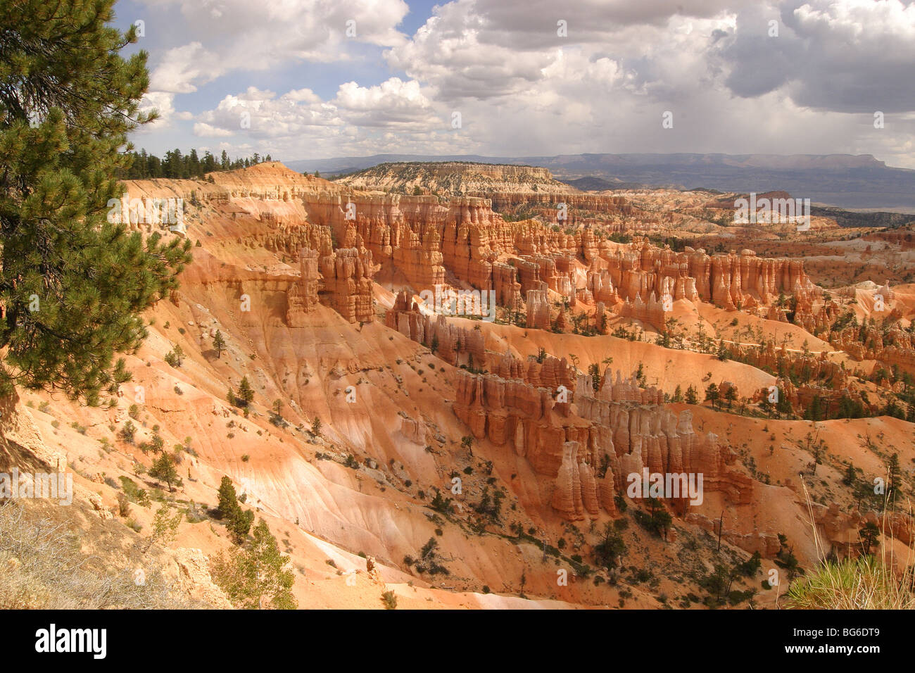 Fall monsoon clouds form over red rock spires in Bryce Canyon ...